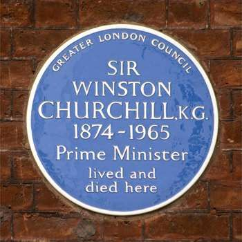 Plaque erected in 1985 by Greater London Council at 28 Hyde Park Gate, Kensington, London SW7 5DJ, Royal Borough of Kensington and Chelsea