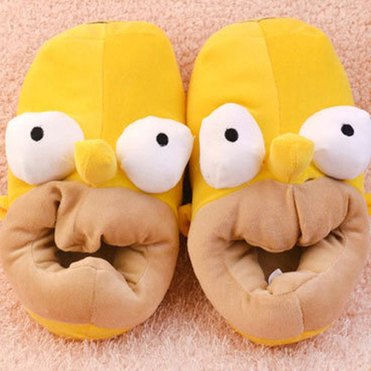 - Keep your feet warm with your own pair of Homer Slippers! - Tromp through the house in these plush slippers Limit 10 Per Order Please allow 4-6 weeks for shipping Item Type: Slippers Size: One Size