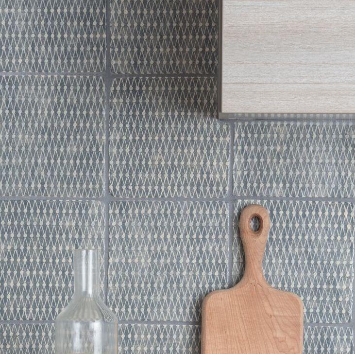 Designed by UK artist Neisha Crosland, Haveli tiles for Ann Sacks have a subtle geometric pattern. | Remodelista
