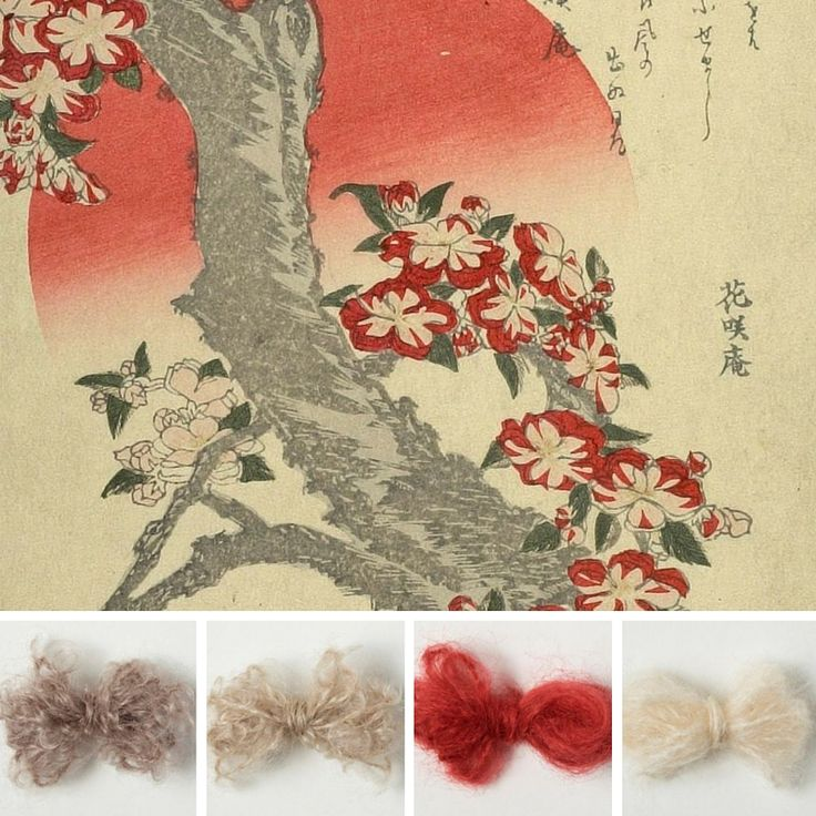 Hokusai nb. attributed to cherry Blossoms and adeles mohair yarn