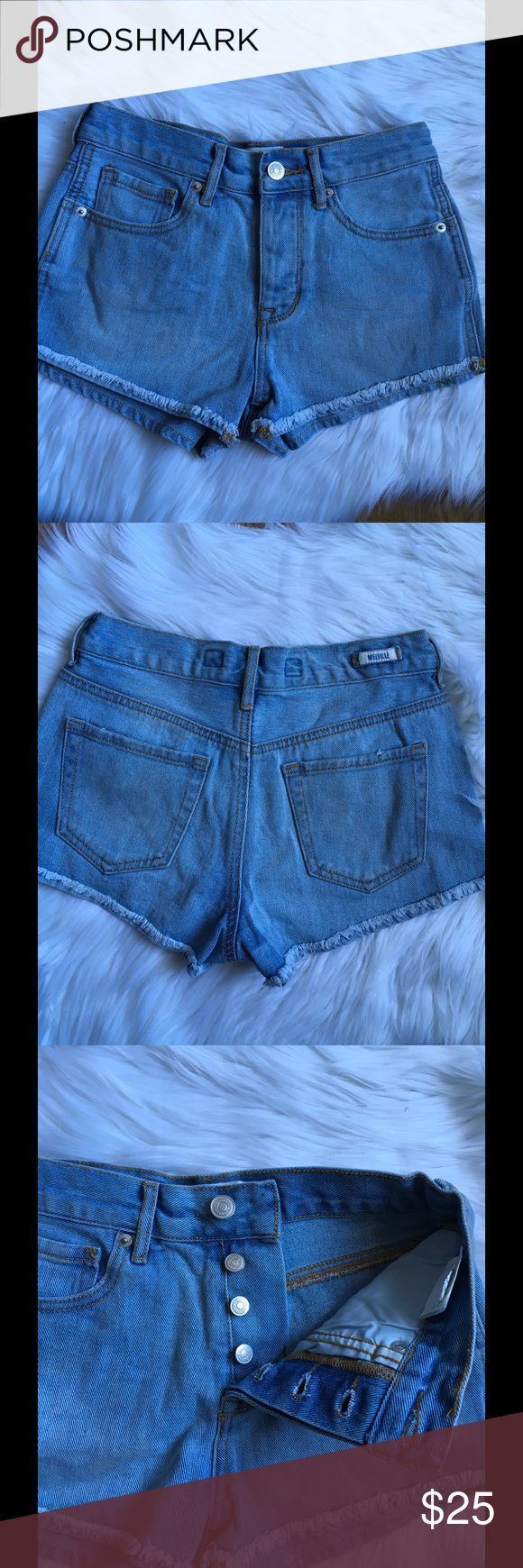 Brandy Melville jean shorts Brandy melville jeans shorts   Front button fly closure  Mid rise  Size 24  New without tags Brandy Melville Shorts