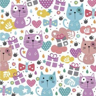 Fundo abstrato com gatos bonitos
