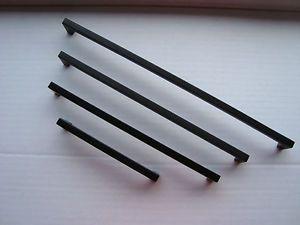 Bügelgriff Stahl Schwarz Matt 9 X 9mm Verschiedene Längen Möbelgriff Möbelgriffe | eBay