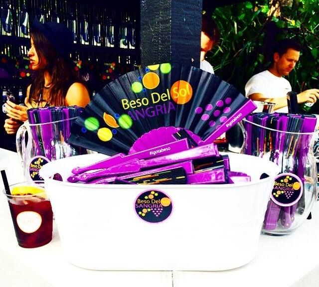 Beso del Sol sangria arrives with much fanfare at Miami Swim Week. #SWAGwithStyle