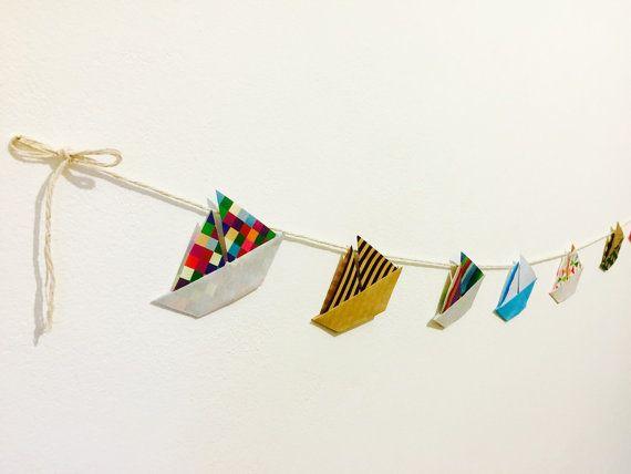 Ghirlanda di origami barca di ossigami su Etsy