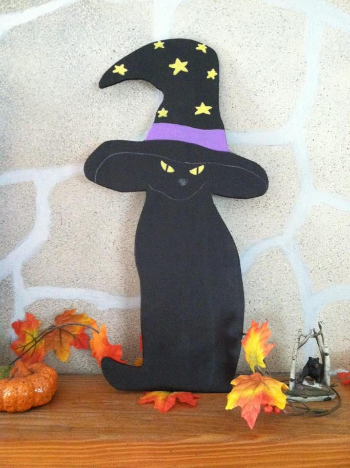 Primitive Halloween Cat Wood Cutout By Rusticwoodcutouts On Etsy
