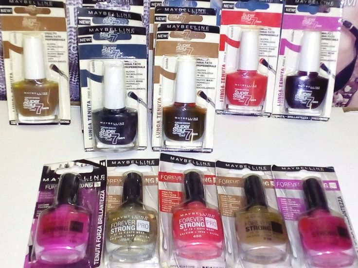Maybelline Smalto SuperStay 7 Days +  Smalto Forever Strong Pro Lotto Stock