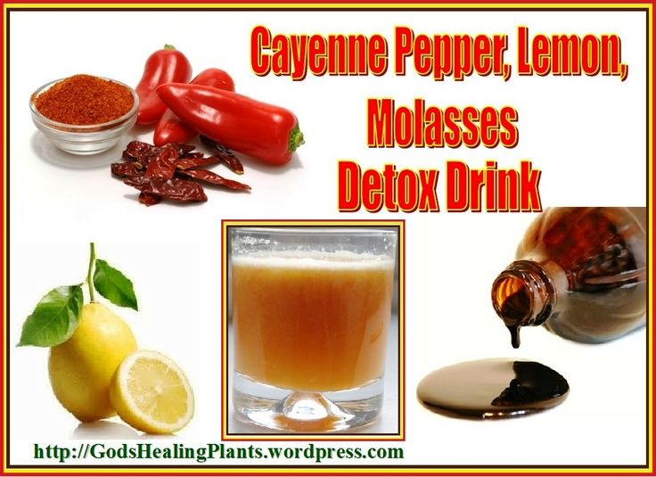 Cayenne Pepper Lemon Molasses Detox Drink Cayenne