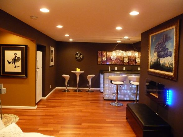 Cool And Hip Basement Transformation, Four Months Ago We