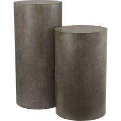 column small grey pedestal table