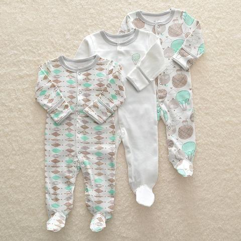 39f131fd24e 3Pcs lot Newborn Baby boy Romper Set Winter 0-12M Baby girl Jumpsuit  Clothes 100% Cotton Infants Warm Clothing High Quality kids