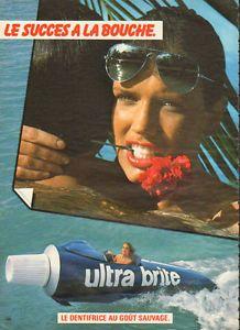 Pub Dentifrice Ultra brite 1980's