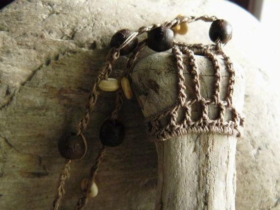 Joyas de Bohemia. Joyería de madera petrificada. Collar de madera petrificado. Hueso petrificado. Hueso fosilizado. Madera petrificada