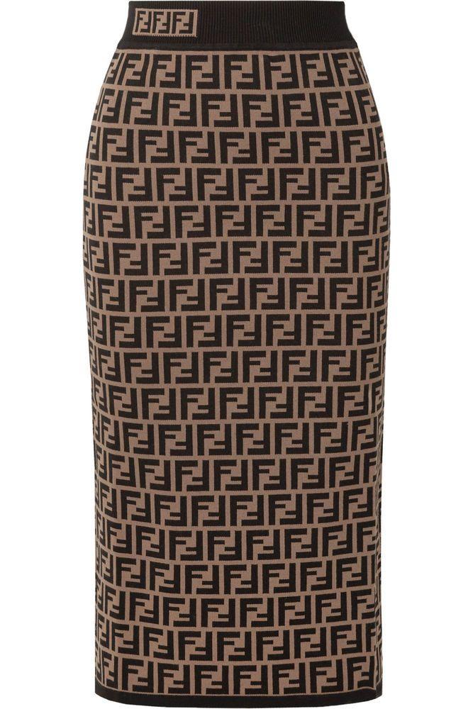 8ea6c6425ade SOLD OUT! Fabulous NWT FENDI Logo Midi Skirt