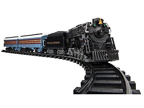"""This year, showcase the magic of Christmas with the iconic Polar Express train set. * Dimensions: 50"""" x 73.2"""" oval of Ready-to-Play track. 24 pieces of curved and 8 straight plastic track pieces * Remote Control: Buttons allow train to go forward and reverse, sound the whistle, ring the bell, and play announcements * Batteries Required: Three AAA batteries for controller and six C cell batteries required for train (not included) * (Placed within the Amazon Associates program) * 17:13 Mar 8 2"""