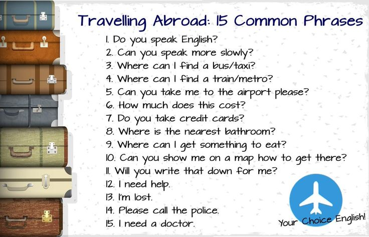 Travelling Abroad: 15 Common Phrases
