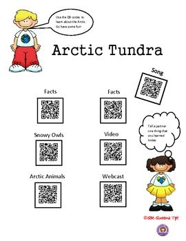 EXPLORE THE ARCTIC TUNDRA USING QR CODES (HABITAT) - K-5th $  Great for centers and early finishers. Such a fun way to learn with differentiation for students using technology!