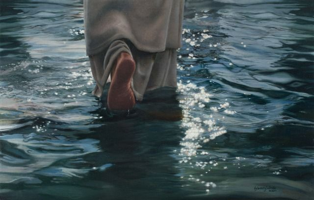 Come Follow Me print, shown in The Stories Behind 12 Pieces of LDS Art. I love this painting and the symbolism of walking by faith to follow Him whom we cannot now see.