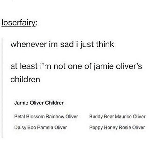 Poor kids  Jamie Oliver's a cool guy, but has he imagined what his children would go through at school?