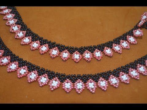 "Колье из бисера ""Этно"". Бисероплетение. Мастер класс / Necklaces of beads. Beading - YouTube"