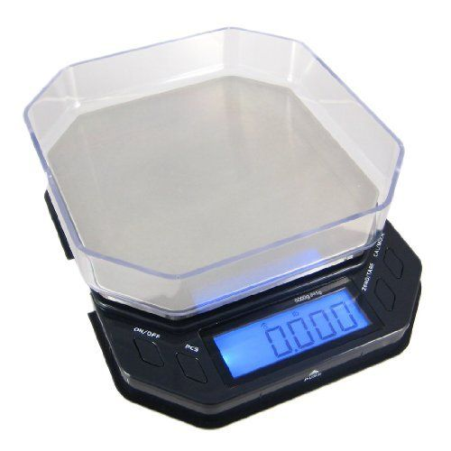 "Digital Lab Scale Table Scales This is a Brand New 5000 gram capacity digital scale . It features a compact design that is stylish, versatile, and accurate. Included in the box with the scale are 2 ~ AA Batteries, a 6"" X 6"" measuring container that is an inch deep, and an instruction booklet.Simple 4 Button Operation  #Scale #Balance #USA  http://www.primescales.com/balance-scales/"