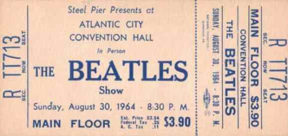 The Beatles 30-08-1964 Convention Hall, Atlantic City, New Jersey