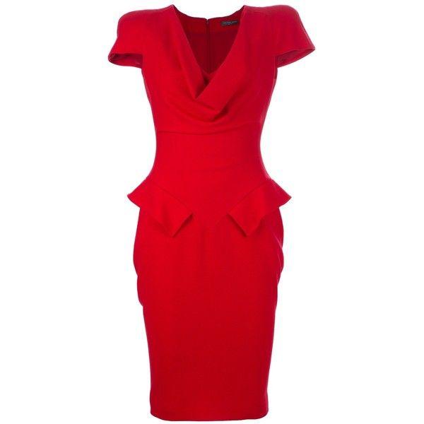 ALEXANDER MCQUEEN ARCHIVE peplum dress (£1,145) found on Polyvore