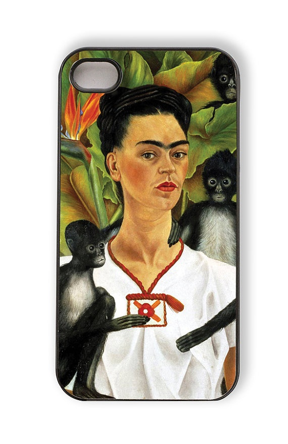 Smart Phone Cover with Art Frida Kahlo  IPhone 4 by AgapeDesignMfg, $15.00