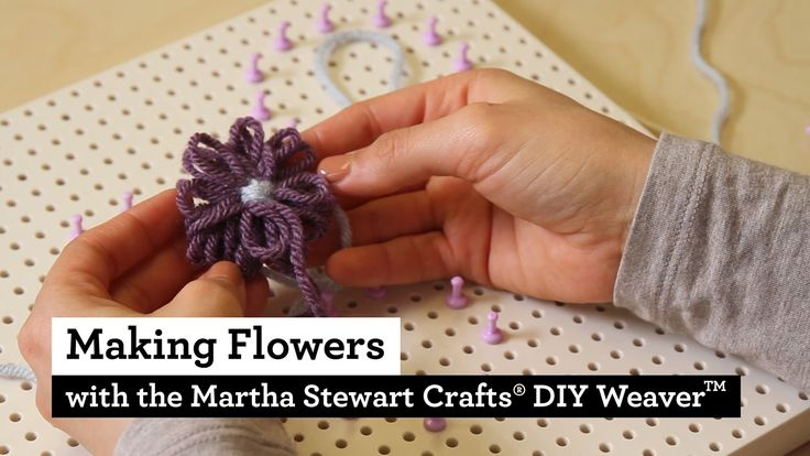 How to Make Flowers on the Martha Stewart Crafts® DIY Weaver(TM)