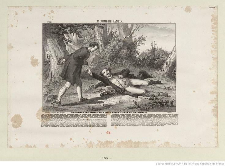 Troppmann empoisonne Jean Kinck dans la forêt de Wattwiller : [estampe]
