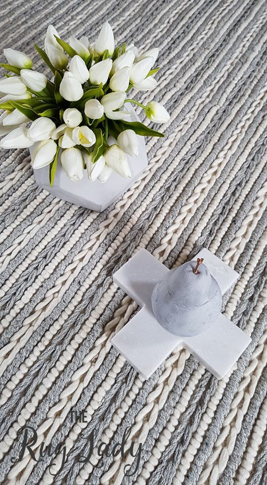 Hand woven in India by artisans using 100% wool, the Farrah Grey Off White Braided Hand Woven Felted Wool Flatweave offers a soft, natural colour palette and simplicity of design, with the beautiful texture being the feature.
