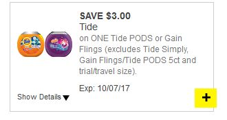 12-16 Count Tide Pods or Gain Flings for $1.50 at the Dollar General through 09/30!