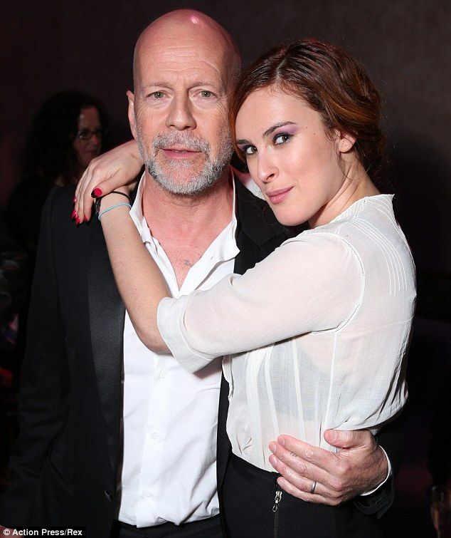 All grown up: Bruce and Rumer are shown together in March 2013 in Los Angeles