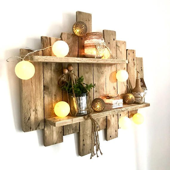 Painting / NATURE & ZEN L80 by WoodAixpo pallet wood wall shelf