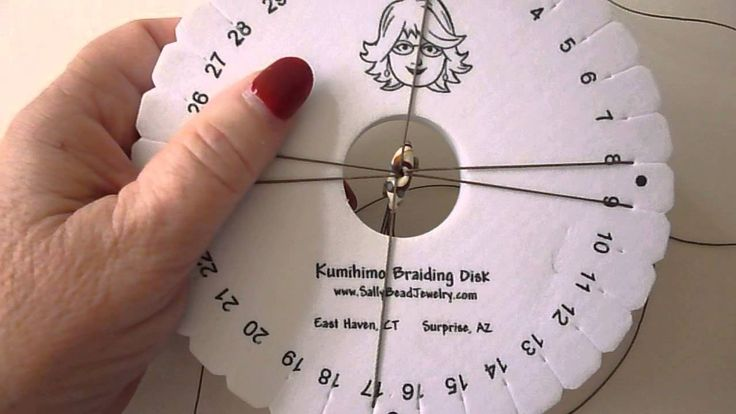 Kumihimo - Adding cord over top.  ♥ How to use a bead with a hole too small for the eight cords.