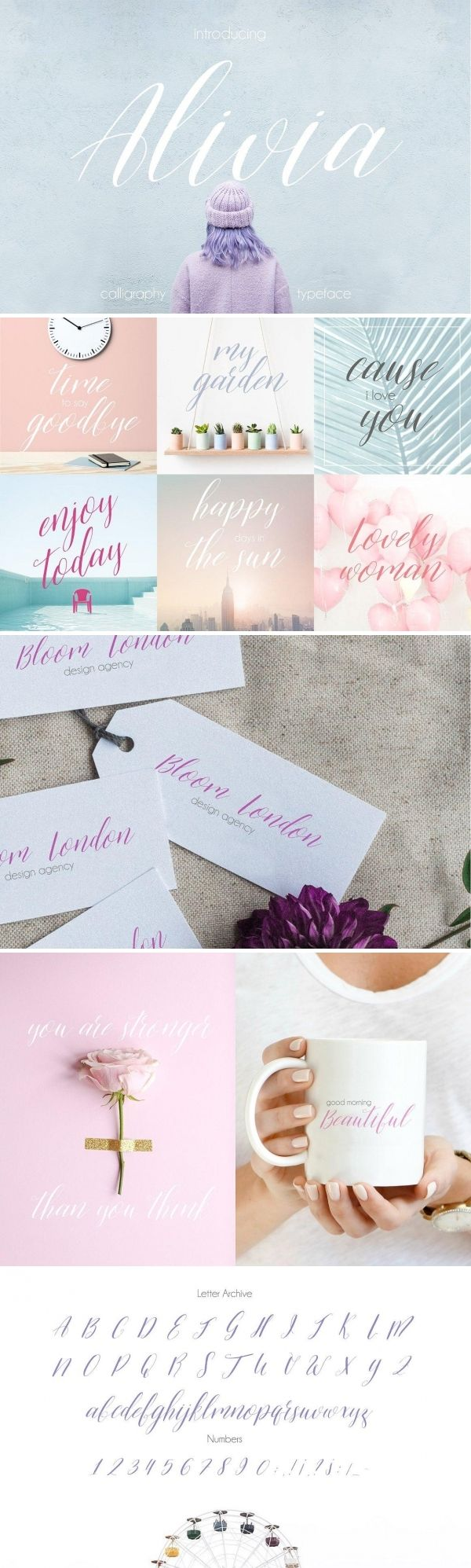 Alivia Handlettered Modern Script Font | This font are perfect for your blog or postcard for wedding. Also with their help, you can create a logo or beautiful frame for your home. Or just use for your small business, book covers, stationery, marketing, magazines.            #font #typeface #typegang #typespire #typematters #type #fontdesign #typography #graphicdesign #typographyinspire #handmadefont #creativemarket #ad