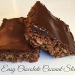 Easy Chocolate Coconut Slice