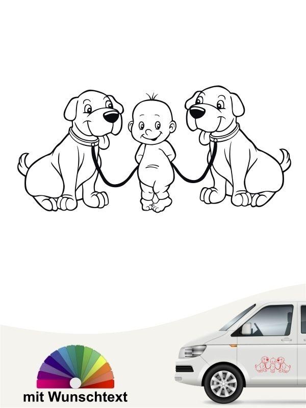 Verwonderend Baby Hund Dog Kind Junge Boy Auto klein Wunschtext gestalten EN-78