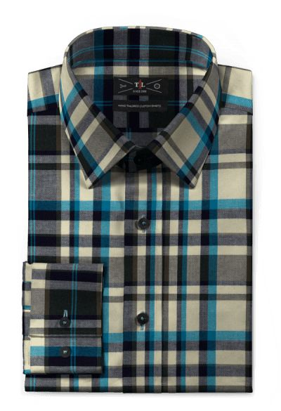 Blue flannel checked Shirt http://www.tailor4less.com/en-us/men/shirts/2578-blue-flannel-checked-shirt