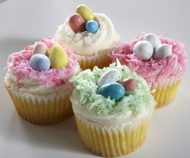 Chef Anna Olson's Coconut Nest Cupcakes!