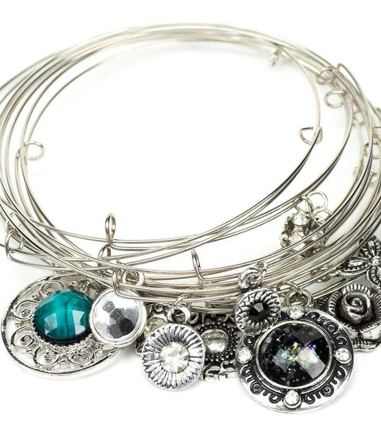 Wire Bracelets With Charms: 17 Best Images About Memory Wire On Pinterest