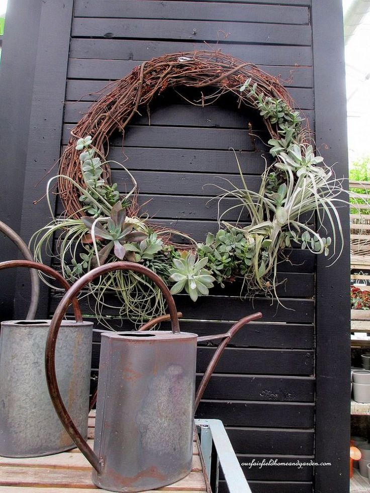 Succulents & Air Plants wreath from Inspiration Field Trip ~ Terrain