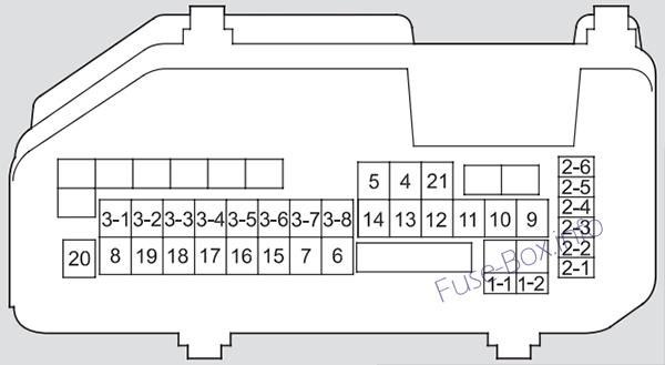 Acura Tsx  Cu2  2011  2012  2013  2014  Fuse Box Diagram