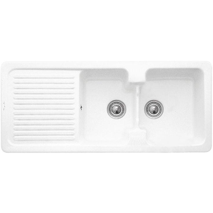 Villeroy Boch Condor 80 2 0 Bowl White Ceramic Kitchen Sink From