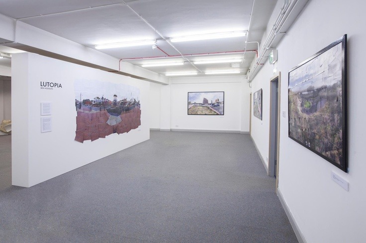 Lutopia Exhibition as part of Fragmentations & Cohesions at Departure Lounge gallery in Luton.