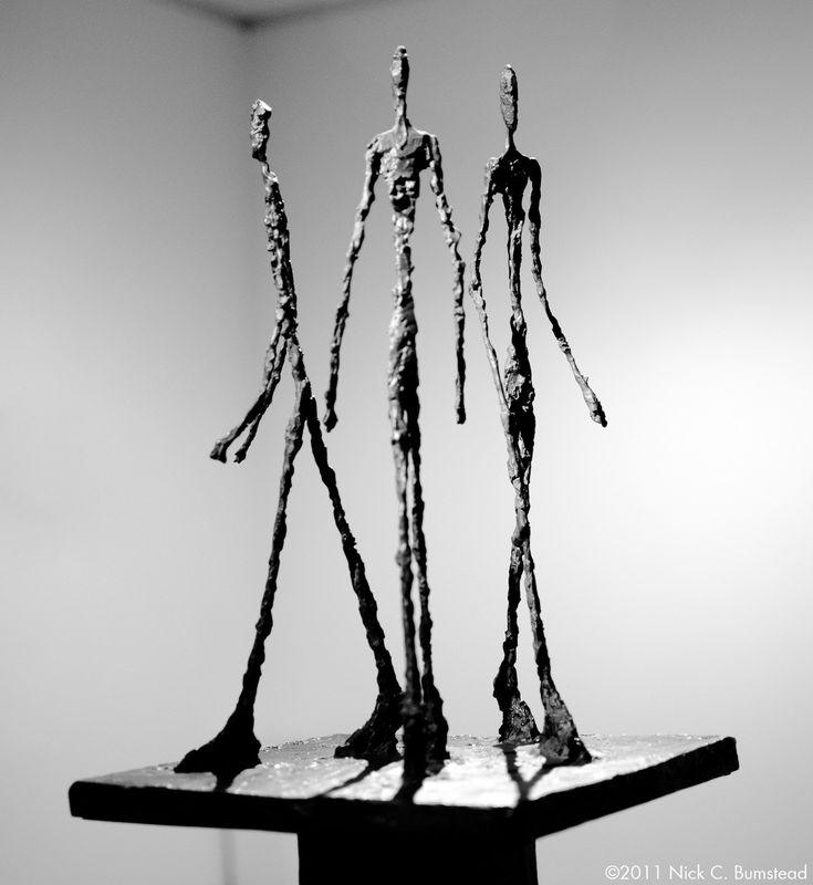 Alberto Giacometti: Three Men Walking II, 1949 - bronze (The Met)