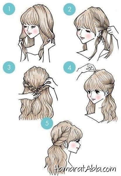 8 Yapımı Kolay Birbirinden Şık ve Havalı Saç Modeli !