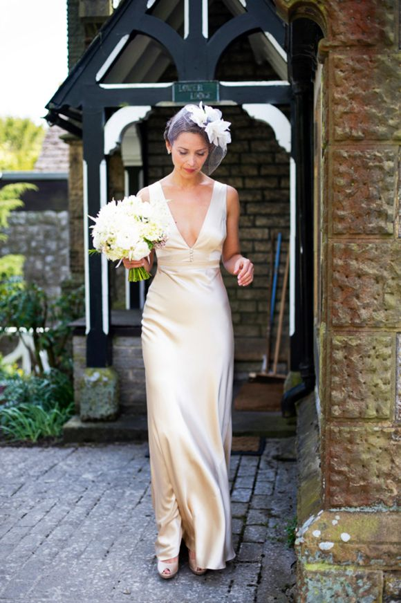 A 1940s Silk Wedding Dress by The Vintage Wedding Dress Company, Love My Dress Wedding Blog -neckline and buttons