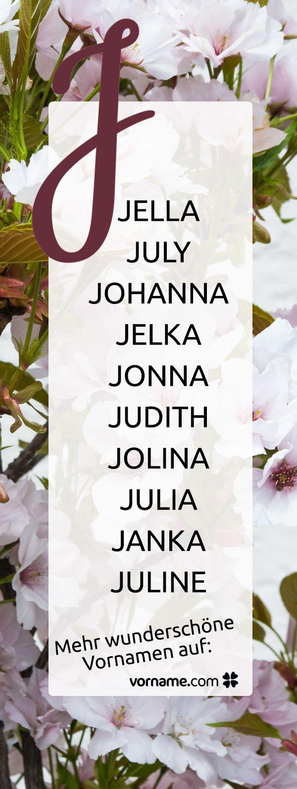 Du bist auf der Suche nach einem schönen Mädchennamen, der mit J beginnt? Bei uns findest Du alle Vornamen zu diesem Thema!