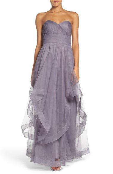 Watters 'Florian' Strapless Horsehair Ruffle Tulle A-Line Gown available at #Nordstrom